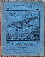 Ancien Protege Cahier D'Ecole L' AVION  4 Volets - Protège-cahiers