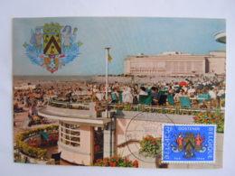 België Belgium 1964 Maximum Oostende Ostend Strand Millénaire Stadswapen Armoiries Zeemeermin Sirène Neptunus Cob 1285 - Maximum Cards