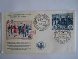 België Belgium 1964 FDC Vredesverdrag Van Gent 1814 Traité De Paix De Gand Cob 1286 - FDC