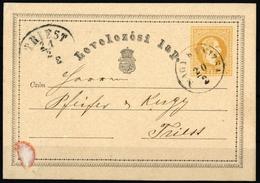 1869, Ungarn, P 2, Brief - Hongrie