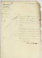 LS Claude-Ambroise Régnier Duc De Massa , Ministre De La Justice . 1810 . Maire De Montreuil-Bellay Injurié . - Autographes