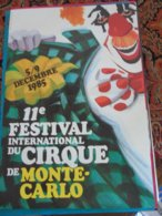 Festival Monaco Monte Carlo Circus Cirque Circo Zirkus - Publicité