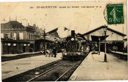 CPA ST-QUENTIN Gare Du Nord – Les Quais (211265) - Saint Quentin