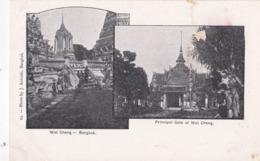 CPA :  Bangkok (Siam Thaïlande) Wat Cheng  Principal Gate  Photo Antonio Dos Précurseur - Thaïlande