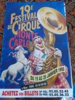 Festival Monaco Monte Carlo Cirque Circus Circo Zirkus - Publicité