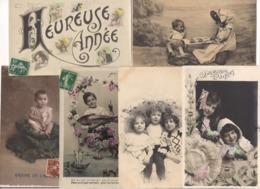 BEAU LOT DE 1000 CPA FANTAISIES DIVERSES : PAQUES ENFANTS COUPLE FEMME GAUFFREES FLEURS BONNE ANNEE.... - Cartes Postales