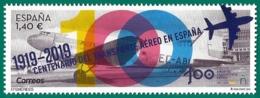 España. Spain. 2019. Efemérides. Centenario Transporte Aéreo En España (1919-2019) - 1931-Heute: 2. Rep. - ... Juan Carlos I