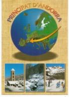 Andorra. Sa Position En Europe. Carte Géographique , Nouvelle Carte Postale Neuve, Non Circulée. - Andorra