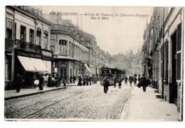 VALENCIENNES ARRIVEE DU TRAM RUE DE MONS ANIMEE - Valenciennes