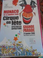Festival Circus Cirque Circo Zirkus Monte Carlo Monaco - Publicité