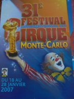 Festival Circus Cirque Circo Zirkus Monte Carlo Monaco - Reclame