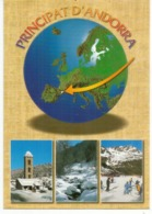Andorra.  Sa Position En Europe, Carte Géographique,  Nouvelle Carte Postale Neuve, Non Circulée. - Cartes Géographiques