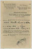 Attestation Provisoire Avant Certificat De Non Appartenance à La Race Juive . Artiste Weiluc . Judaïca . Vichy . 1944 . - Documents