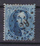 N° 15 A : 29  BARVAUX COBA +12.00 - 1863-1864 Medallones (13/16)