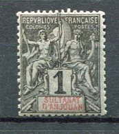 ANJ - Yt. N° 1  *  1c  Cote  1,8  Euro  BE  2 Scans - Anjouan (1892-1912)