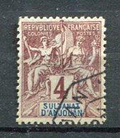 ANJ - Yt. N° 3  (o)  4c  Cote  3,8  Euro  BE  2 Scans - Anjouan (1892-1912)