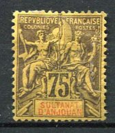 ANJ - Yt. N° 12  *   75c  Cote  37,5  Euro  D   2 Scans - Anjouan (1892-1912)