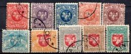 LITUANIE - 1919 - N° 25 à 34 - (Lot De 10 Valeurs Différentes) - (Armoiries. Vytautas) - Lithuania