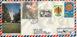 TAHITI. Le Phare De La Pointe Vénus (observation Du Transit De Vénus En 1769.par Capitaine Cook), Enveloppe Papeete 2019 - Lettres & Documents