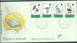 Pitcairn Islands 1990 Birds Set Of 4 On FDC Official Unaddressed - Stamps
