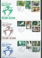Pitcairn Islands 1995 Frigate Birds Definitives Set Of 12 On FDC Official Unaddressed - Stamps