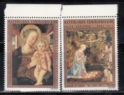 República Centroafricana, 1972  Yvert Nº 108 / 109  MNH, Navidad, Pinturas. - Cristianismo