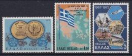 Griekenland - 5. Jahrestag Des Militärputsches Von 1967 - MNH - M 1103-1105 - Ongebruikt