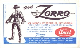 Vloeipapier Buvard - Desserts Ancel Signé Zorro - Autres