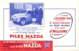 Vloeipapier Buvard - Piles Mazda - Renault Sport - Mr & Mme Guy Leblond - Saint Martin Boulogne 1953 - Piles