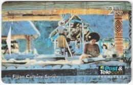 FIJI A-091 Magnetic Post&Telecom - Culture, Traditional Life - 07FJA - Used - Fiji