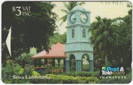 FIJI A-104 Magnetic Post&Telecom - Architecture, Historic Building - 11FJB - Used - Fiji
