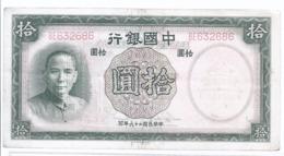 AK-div.28- 298 -  China Lo Yuan 1937 Sun Yat Sen ,  BE  632 686 - Cina