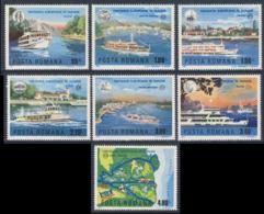 Romania Romana Rumänien 1977 Mi 3484 /0 YT 3078 /4 SG 4346 /2 ** Donau-Schifffahrt, Europäische Donaukommission - Transports