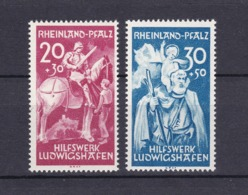 Rheinland-Pfalz - 1948 - Michel Nr. 30/31 - Zone Française