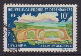 New Caledonia 1967 Sports Centres 10f Magenta Stadium Used SG 426 - Neukaledonien