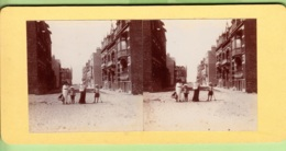 MALO Les BAINS Le 15 Juin 1913 : Vers La Plage Pour Le Criquet - Photo Stéréoscopique  - Lire Descriptif -  2 Scans - Fotos Estereoscópicas