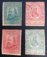 ITALIA Regno 1910 Plebiscito, Effigie Garibaldi Serie Completa - ITALY KINGDOM 1910 GARIBALDI RISORGIMENTO E PLEBISCITO - 1900-44 Vittorio Emanuele III