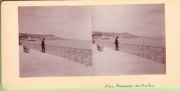 NICE Vers 1900 : Promenade Des Anglais - Photo Stéréoscopique  - Lire Descriptif - Photos Stéréoscopiques
