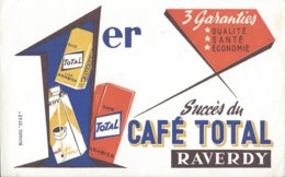 Buvard Café TOTAL Raverdy Saint Saulve. 3 Paquets - Café & Thé