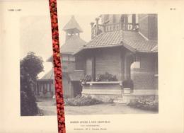 Foto  Photo - Bijlage Magazine Vers L'Art - Maison Vive Saint Eloi - Woning St Eloois Vijve  +- 1910 - Prenten & Gravure