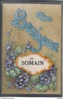 Carte Postale 59. Somain  Un Bonjour Très Beau Plan - Autres Communes