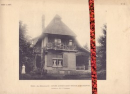 Foto  Photo - Bijlage Magazine Vers L'Art - Villa La Maisonnette - Avenue Wiener Watermael Watermaal  +- 1910 - Prenten & Gravure