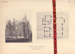 Foto  Photo - Bijlage Magazine Vers L'Art - Campagne à St André - Buitenverblijf Sint Andrues Brugge   +- 1910 - Prenten & Gravure