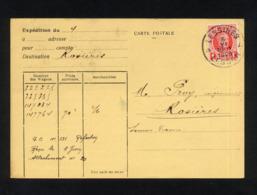 """"""" CARTE POSTALE COMMERCIALE POUR EXPEDITION DE LESSINES (BELGIQUE) VERS ROSIERES (FRANCE) """" CACHET POSTAL 5/06/1929 - Other"""