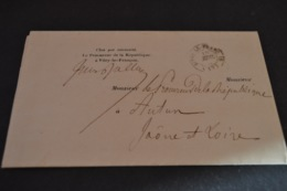 Lettre 1850 Vitry Le François Pour Autun Cachet Paris Route N° 6 - Marcophilie (Lettres)