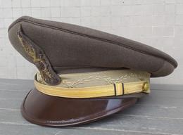 Berretto A Visiera Kaki  Sottotenente Di Fanteria Anni '80 Eccellente Stato Completo - Copricapi