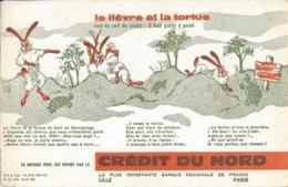 Buvard Crédit Du Nord LILLE Le Lièvre Et La Tortue - Banque & Assurance