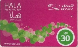 Qatar Hala Q-Tel Prepaid Phonecard, QRs.30 Card - Qatar