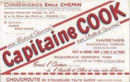 Buvard Conserverie Capitaine COOK Paris - Autres
