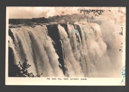 Victoria Falls - The Main Fall From Cataract Island - Photo Card - Zimbabwe